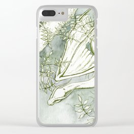 Chaudeleau the Green Marsh Dragon Clear iPhone Case