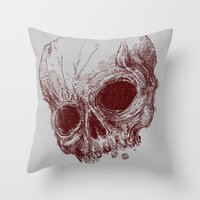 mortal instruments Throw Pillows featuring mortal coil by Isaboa