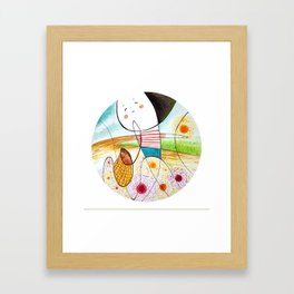 collecting sunshine ( u line it, i form it) Framed Art Print