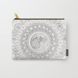 Mandala with Full Moon and Constellations Illustration Carry-All Pouch