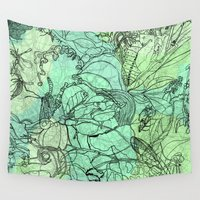 insects Wall Tapestries featuring Insects by David Bushell
