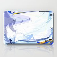 skiing iPad Cases featuring Downhill Skiing by Robin Curtiss