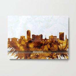 Bismarck North Dakota Skyline Metal Print