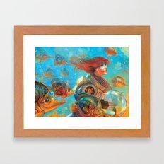 Gold Sea Framed Art Print