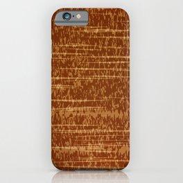 Vector grunge texture in orange colot. Tree bark iPhone Case