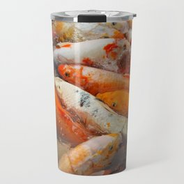 Koi Carp Food Frenzy 2 Travel Mug