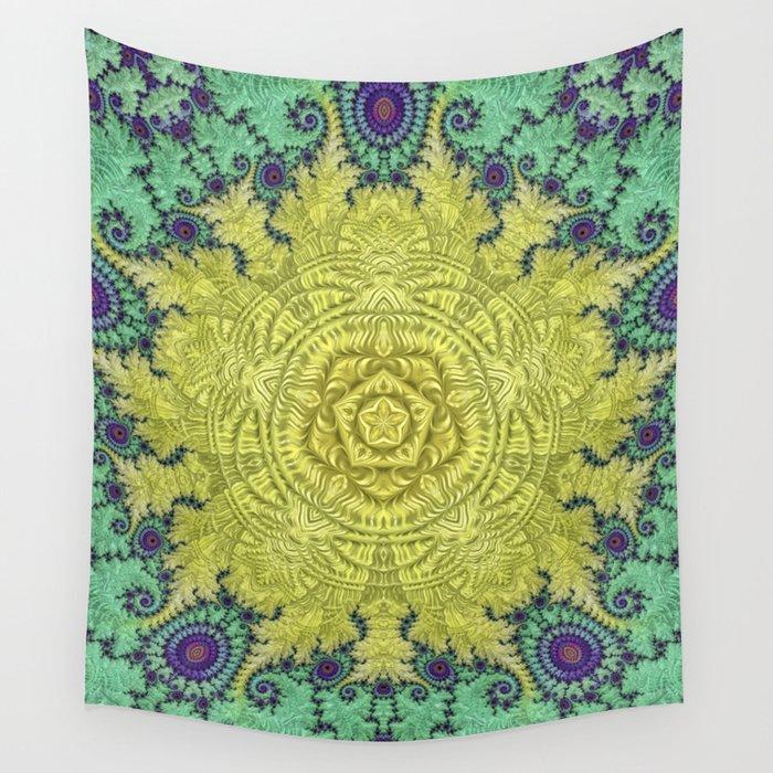 Clock Mandala Wall Tapestry