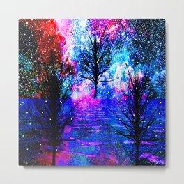 NEBULA TREES FANTASY OCEAN DREAMS Metal Print
