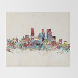 Minneapolis Minnesota skyline Throw Blanket