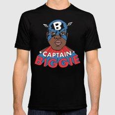 Captain Biggie MEDIUM Mens Fitted Tee Black