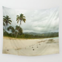 Palm Trees in Dominican Republic Beach Wall Tapestry