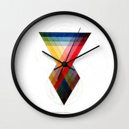 Prismatic Color Wall Clock