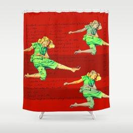 KICKIN' IT Shower Curtain