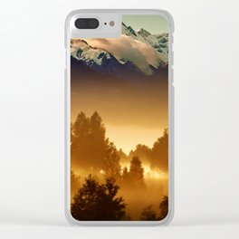 Snow caps Clear iPhone Case