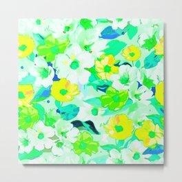 Elegant watercolor floral texture Metal Print