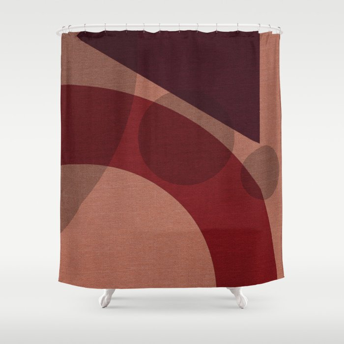 B65 Seal Brown Persian Plum Shower Curtain By Bridax