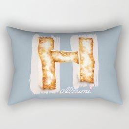 Halloumi cheese Rectangular Pillow