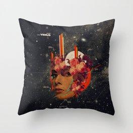 Astrovenus Throw Pillow