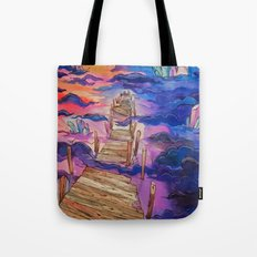 Space Clouds Crystals Tote Bag