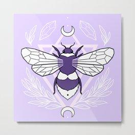 Bee Queen // Pastel Metal Print