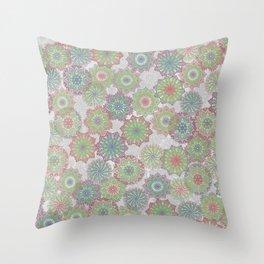 Doily Delight Crochet Watercolor Throw Pillow