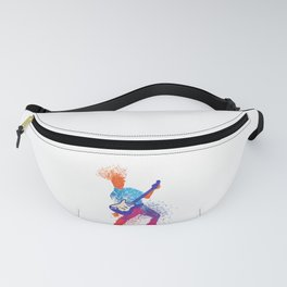 Abstract Art Rock and Roll Music Note Guitarist Gift Fanny Pack