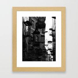 03 Black & White Bird Cages Framed Art Print