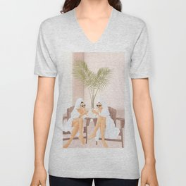 Morning with a friend III Unisex V-Neck
