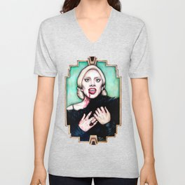 LG as The Countess - AHS Hotel Unisex V-Neck