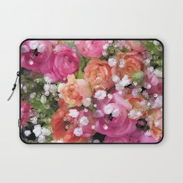 Baby's Breath and Candy Roses Laptop Sleeve