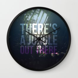 There's a jungle out there Wall Clock