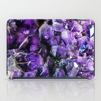 geode iPad Cases featuring Amethyst Geode by The Wellington Boot