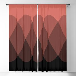 Orange cream ombre signal Blackout Curtain