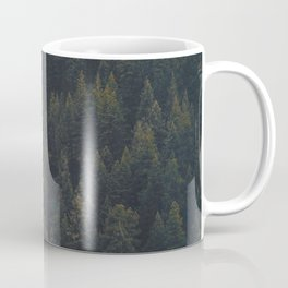 Modern Landscape Photography Single Autumn Tree Pine tree Forest Green Trees Yellow Focal Point Coffee Mug