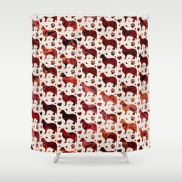 Cavalier King Charles pattern Shower Curtain