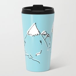 sketch blue mountains Travel Mug