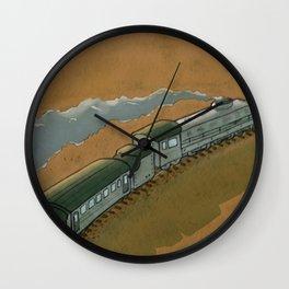 The Transsiberian Railway Travel Poster Wall Clock