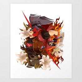 Red Evolution Art Print