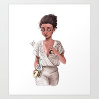 classy Art Prints featuring Classy by Laia™