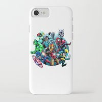 super heroes iPhone & iPod Cases featuring Super Heroes by Carrillo Art Studio