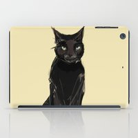 black cat iPad Cases featuring Black Cat by Jaleesa McLean