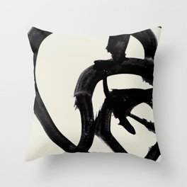 Mono Brush 2 Throw Pillow