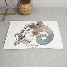 MorbidiTea - Earl Grey with Ram Skull Rug