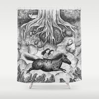 sisters Shower Curtains featuring Sisters by Ulrika Kestere