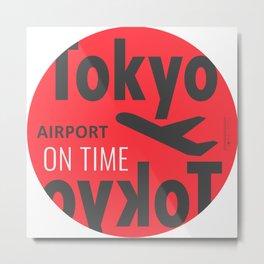 Tokyo airport Japan Metal Print