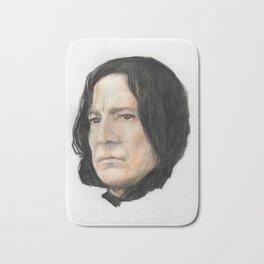Severus Snape, Alan Rickman portraitoriginal art print Bath Mat