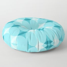 Circles and Diamonds Turquoise Floor Pillow