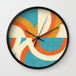 New Mid Mod Freeway Blue #mid-century Wall Clock