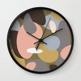 Swept Away Shapes Minimal Abstract Wall Clock