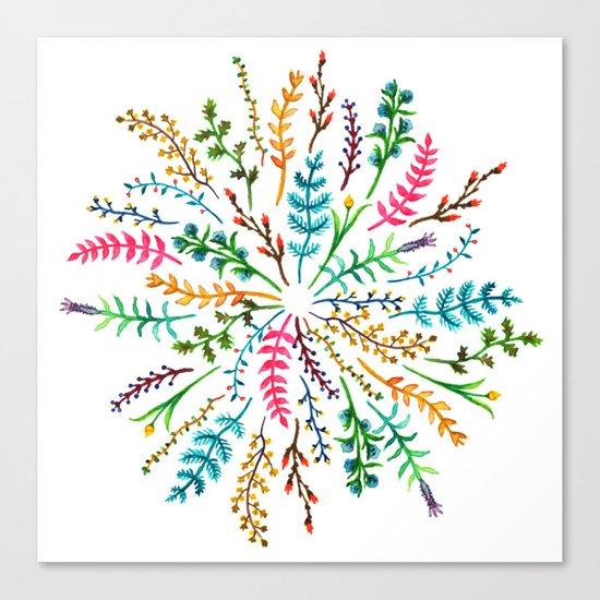 Radial Foliage Canvas Print